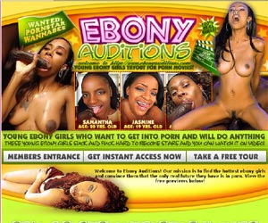 Ebony Auditions - Young Ebony Girls Tryout For Black Porn Movies!