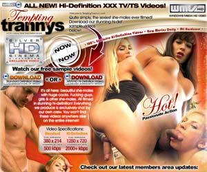 Welcome to Tempting Trannys the hottest and newest HIGH DEF tranny site on the net! These slutty chicks with dicks will have even the straightest men question their sexuality